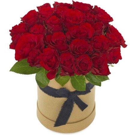 """Flower Box """"Czerwone róże"""" Pudełko z różami"""