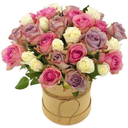 """Flower Box """"Różana słodycz"""" Róże w pudełku"""