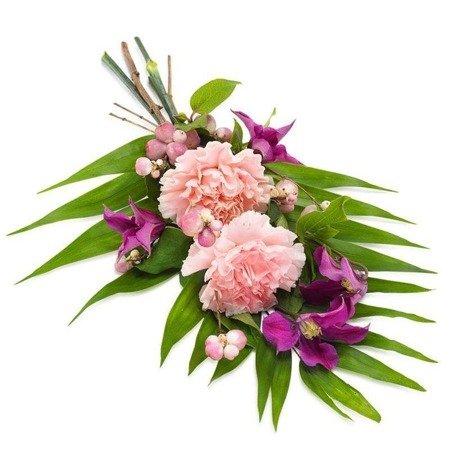 Wiązanka z goździków kwiaty na pogrzeb z dostawą